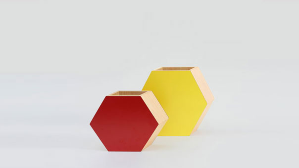 SHADOW HEXAGONAL vase