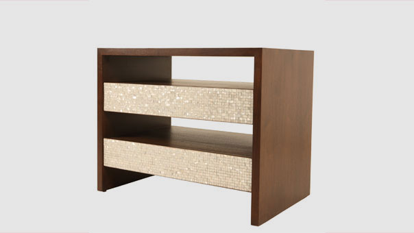 DOUBLE TIERED bedside table