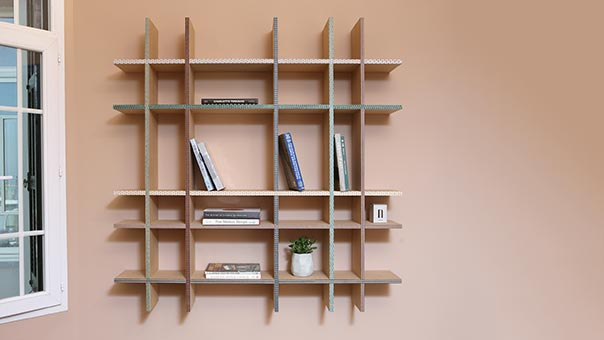 FUNQUETRY crisscross shelf