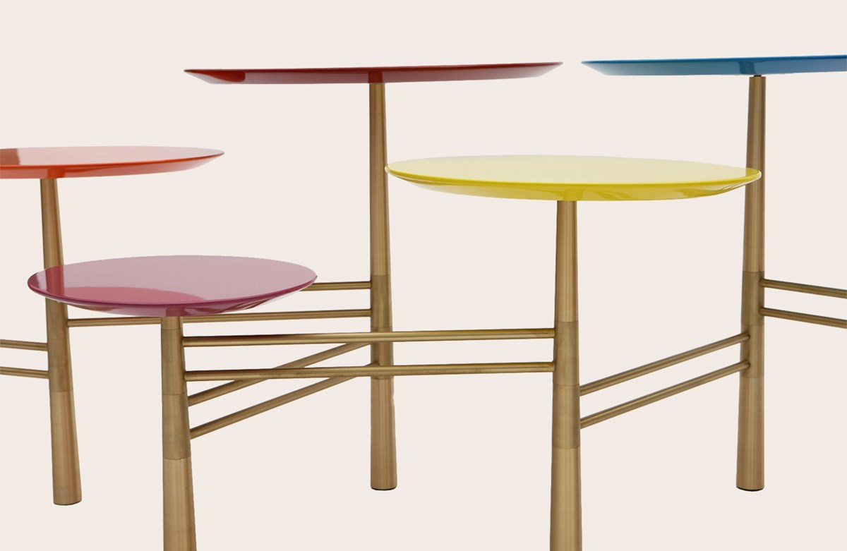 Pebble Low Table Smarties/Brass