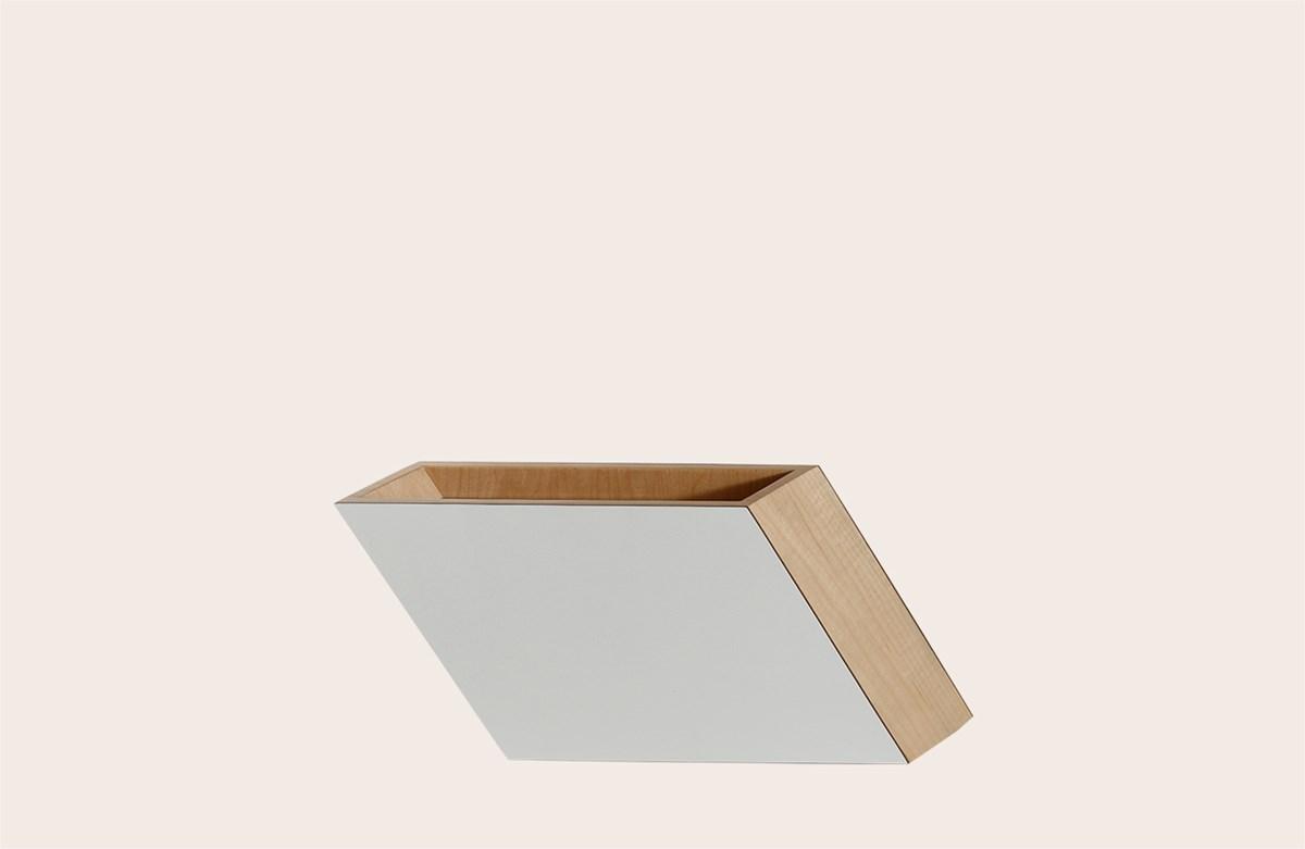 Shadow Vase White Medium