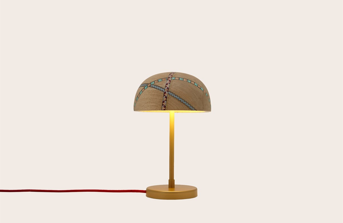Marquetry Mania Table Lamp