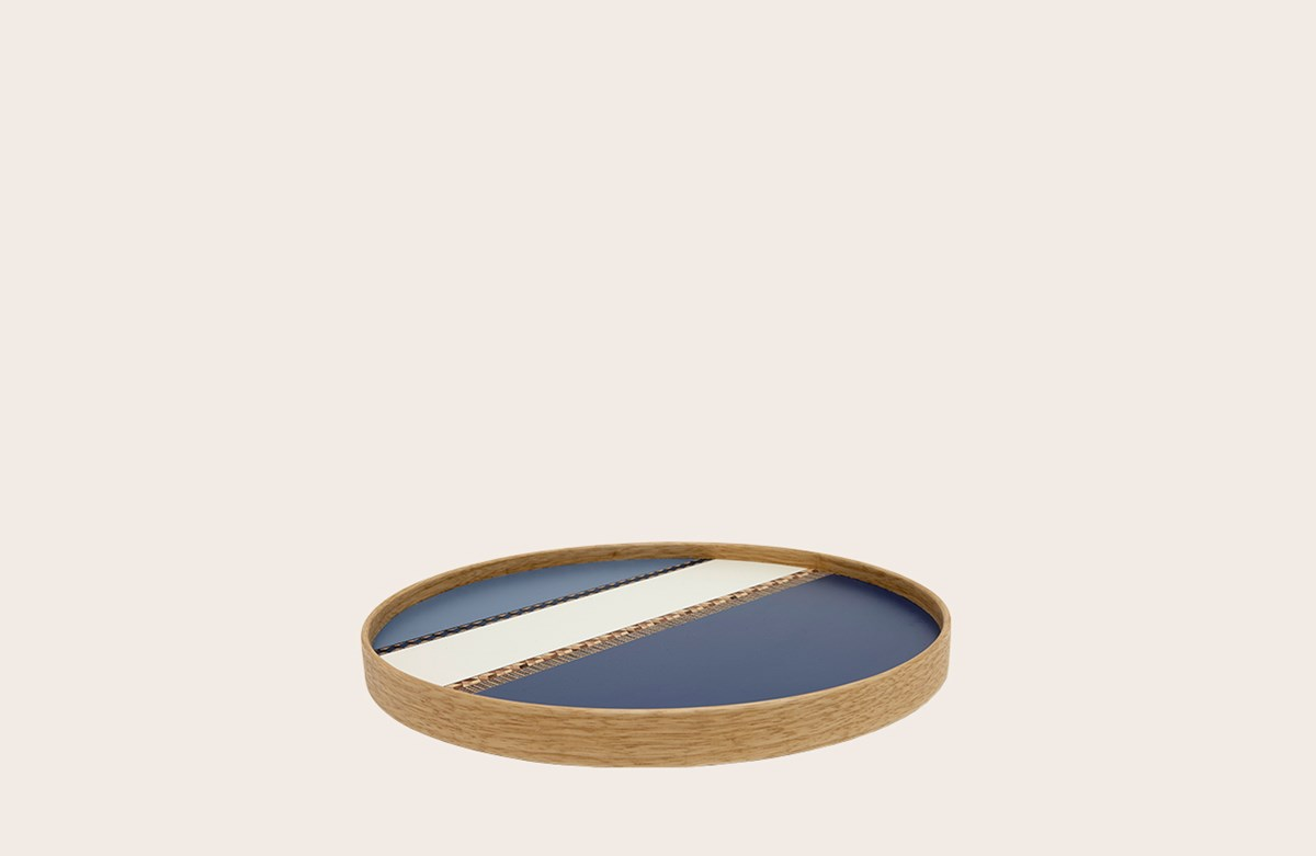 Crafted Laminate Tray Blue