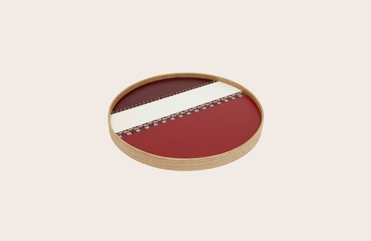 Crafted Laminate Tray Red