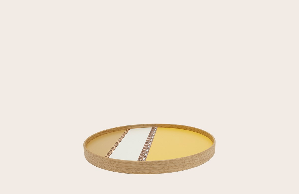 Crafted Laminate Tray Yellow