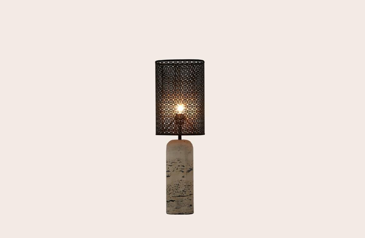 TRAVERTINO TABLE LAMP